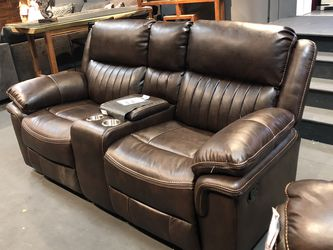 In Stock! Gel Leather Power Loveseat Only $849! Available In Black, Brown, & Grey! for Sale in Vancouver,  WA
