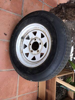 Trailer tire with rim for Sale in Mission Viejo, CA