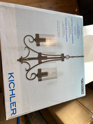 Kicker chandelier. Brand néw. Now 80. Firm for Sale in Plymouth Meeting, PA