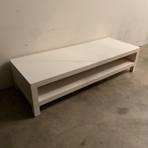 White Wood Tv Stand/ Table for Sale in Corona, CA