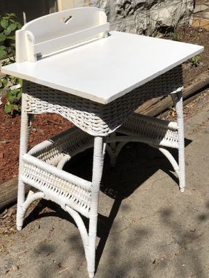 Wicker desk for work or gardening for Sale in River Forest, IL