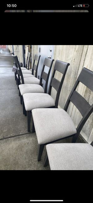Brand new 8-piece gray Costco chairs! for Sale in Alameda, CA