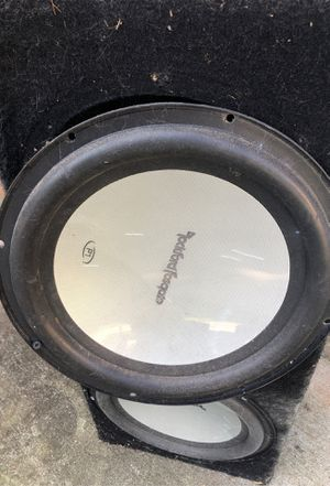 "12"" Rockford Fosgate speakers Custom Box for Sale in Stonecrest, GA"
