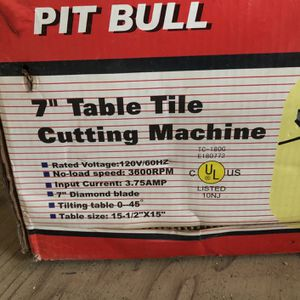 """7"""" Table Tile Cutting Saw for Sale in Kent, WA"""