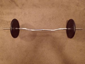 EZ Curl Bar plus 50 Pounds of Weights for Sale in Laurel, MD