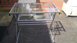 Glass Computer table with matching side table. ( Not pictured ) for Sale in Hanover Park, IL