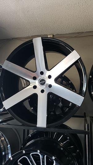 24x10 strada rims 6 lug 6x139 whit New set of tires 305 35 24 for Sale in Phoenix, AZ
