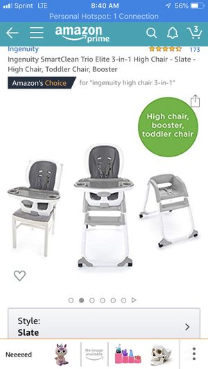 Trio 3 in 1 high chair for Sale in Virginia Beach, VA