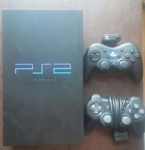 PS2 Plus 2 Controllers - Powers On, Doesn't Read Games, No Cords for Sale in Chandler, AZ