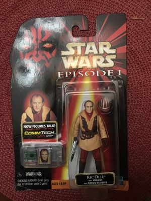 Star Wars Episode 1 Ric Olie with Helmeg and Naboo Blaster for Sale in Commerce, CA