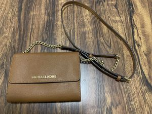 Michael Kors Tan Wallet Cross Body - Perfect Condition for Sale in Washington, DC
