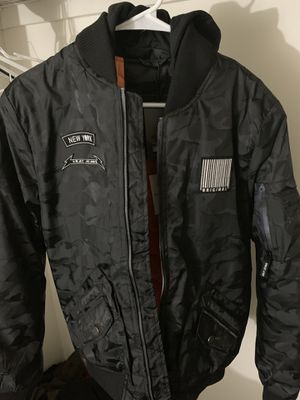 XMJ-87011 | Hooded Flight Jacket (Black Camo) for Sale in Middle River, MD