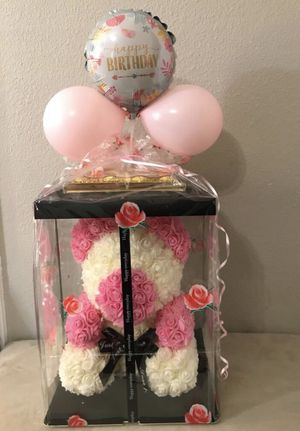 Rose Teddy Bear White & Pink 13in for Sale in Houston, TX