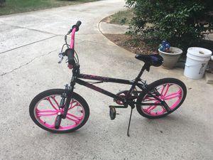 Pink/Black Mongoose Bike with Helmet, Knee Pads and Elbow pads for Sale in Atlanta, GA