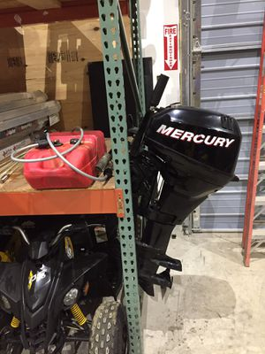 2006 mercury 15 2 stroke boat motor with tank will trade for Sale in Westford, MA