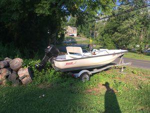 13' Boston whaler40 hp boat Mercury whaler trailer galvanized for Sale in Brookfield, CT