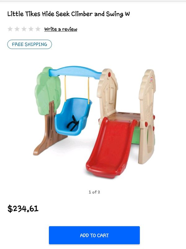 Little Tykes slide and swing set. New in box
