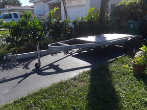 20' feet, Home made trailer, use for moving, or utility. Can retrofited for boat or 2 jet skies. I own i. for Sale in Miami, FL