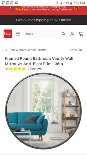 Wall Mirror gold plated for Sale in Detroit, MI