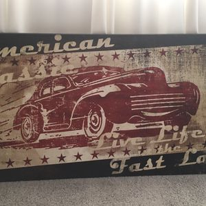 Decorative Accent Portrait Canvas American Classic Car Painting for Sale in Glendale, AZ