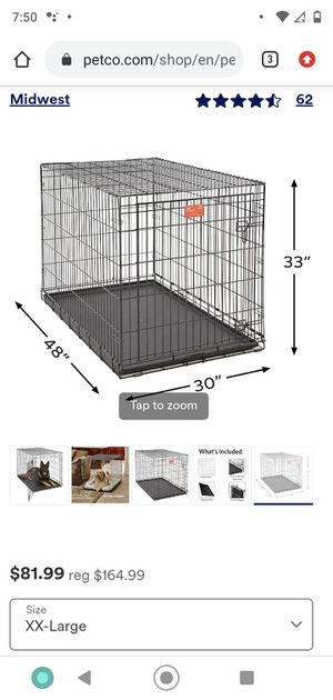 Xxl dog crate plus pad and extra liner pan for Sale in San Jose, CA