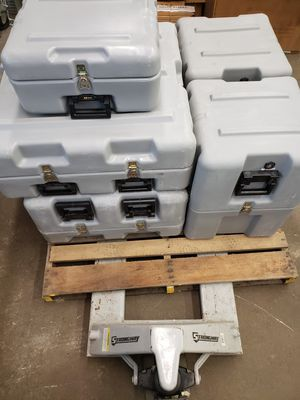 Lot of 5 Pelican Hardigg Watertight Transport Cases w/ Foam & Check Valves for Sale in Savannah, GA