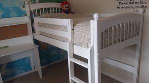 Convertible loft with slide kids bedroom set for Sale in Monroe, WA