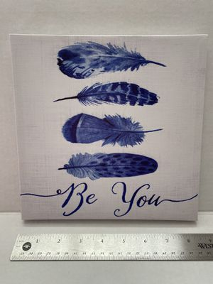 Be you feather canvas wall sign decor for Sale in McDonald, PA
