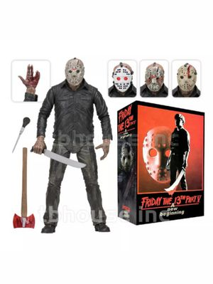 Neca Friday the 13th A New Beginning Part V Jason Voorhees Collectible Horror Action Figure Toy with 4 Different Removable Masks for Sale in Chicago, IL