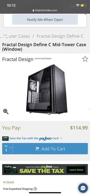 Fractal design define c mid tower case for Sale in Penn Laird, VA