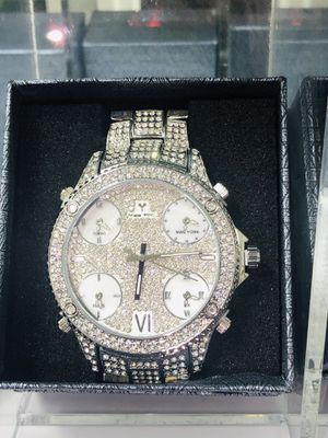WATCH 14k White GOLD FILLED FINISH ICY BLING BLING for Sale in Los Angeles, CA