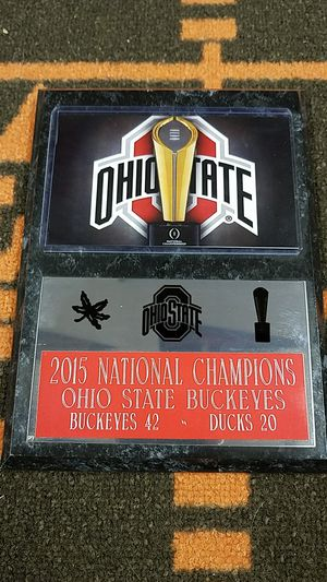 Ohio state buckeyes plaque national champs for Sale in Parma, OH