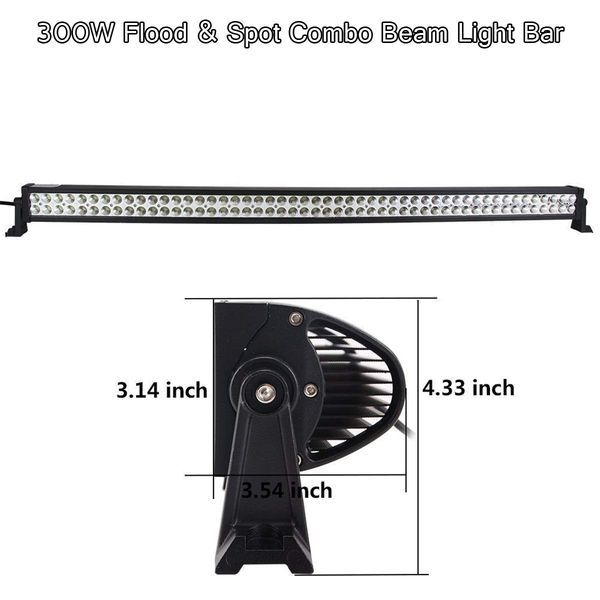"""JL LED Light Bar Upper Windshield Mounting Bracket & 50"""" LED Light Bar fits Jeep Wrangler JL 2018 2019"""