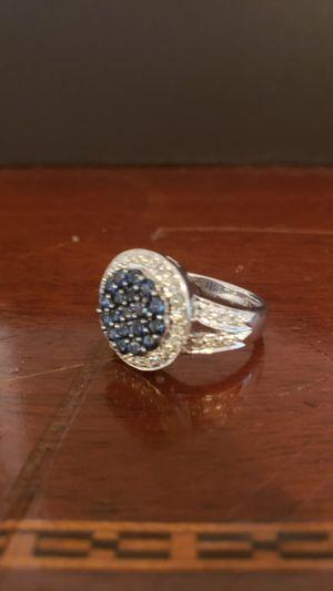 18k white gold natural diamond and tazanite women's ring for Sale in Miami Beach, FL