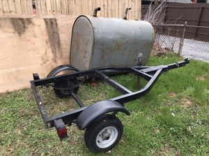 Oil tank and trailer ready to make BBQ pit for Sale in Washington, DC