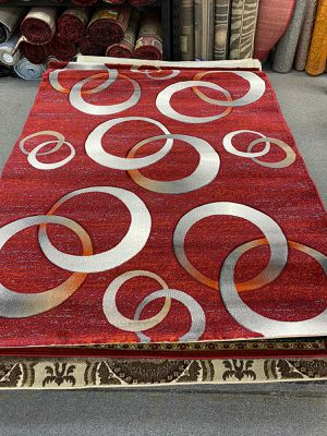 5x7 Woven Area Rug In Red tones for Sale in Salem, OR