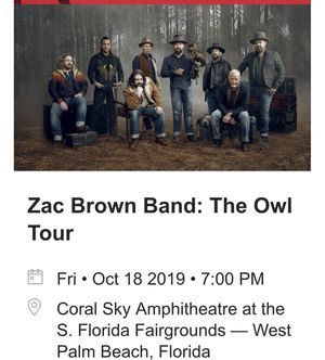 2 tickets to Friday night show Section 6 row EE for Sale in FL, US