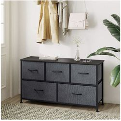 WLIVE Dresser with 5 Drawers, Dressers for Bedroom, Fabric Storage Tower, Hallway, Entryway, Closets, Sturdy Steel Frame, Wood Top, Easy Pull Handle for Sale in Pico Rivera,  CA