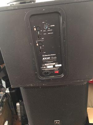 2 EV power speaker 🔈 ZXA1 subwoofer 🔊 for Sale in Boston, MA