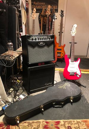 Guitar and hard case and kick ass amplifier for Sale in Avondale, AZ