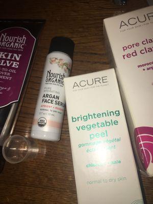 Acure peel mask nourish organic skin solve face serum ebc 46 for Sale in Woodridge, IL