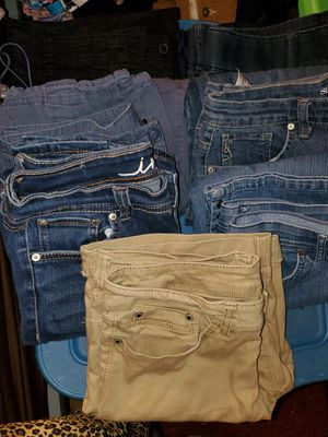 7 pairs of lady's size 8 jeans for Sale in Haines City, FL