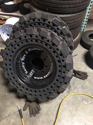 4x solid bobcat tire 12x 16.5. $2500 no bargain price firm for Sale in San Bernardino, CA
