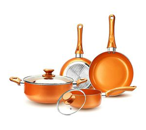 6-piece Nonstick Kitchen Copper Cookware Set for Sale in Arlington, TX