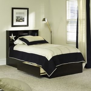 Brand New Twin Size Contemporary Storage Bed with Bookcase Headboard for Sale in Atlanta, GA