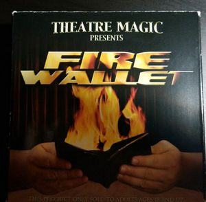 Theater magic fire wallet magic trick and DVD for Sale in Fort Lauderdale, FL