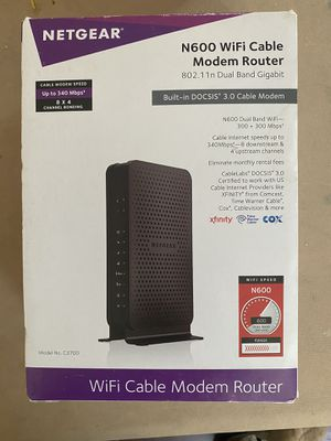 Netgear WiFi cable modem router for Sale in Hercules, CA
