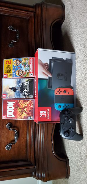 Nintendo Switch with 3 games and Pro Controller for Sale in Fairfax, VA