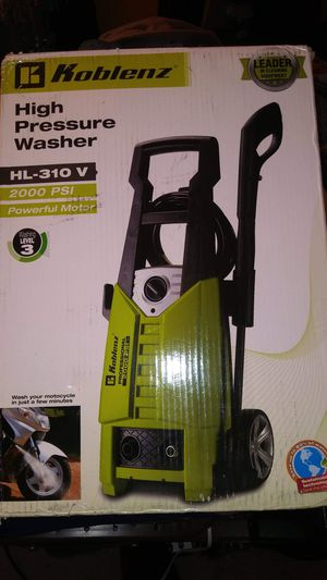 koblenz high pressure washer hl 310 v 2 000psi for Sale in Fort Washington, MD