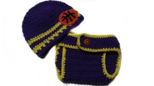 Custom Personalized Baby Unisex CA Los Angeles Lakers Basketball Sports Fan Photo Prop Diaper Cover and Beanie Hat Set for Sale in East Hartford, CT
